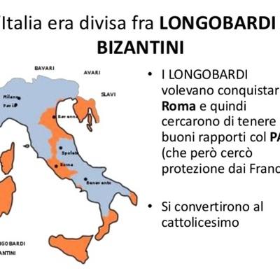 Longobardi e Bizantini timeline
