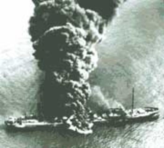 U-boats sink merchant vessels