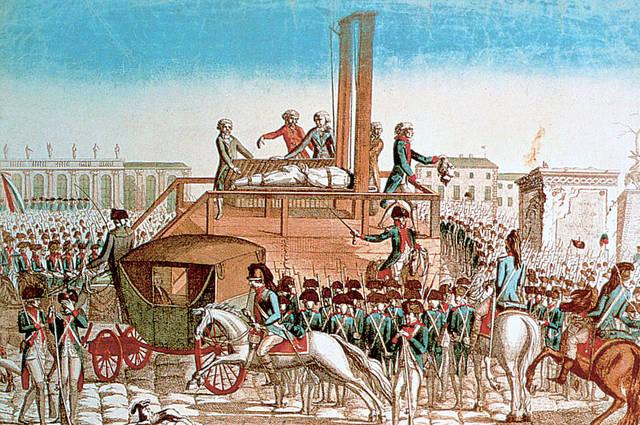 Kong Ludvig 16. blir henrettet