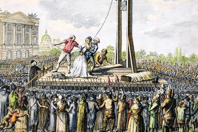 Dronning Marie Antoinette blir henrettet