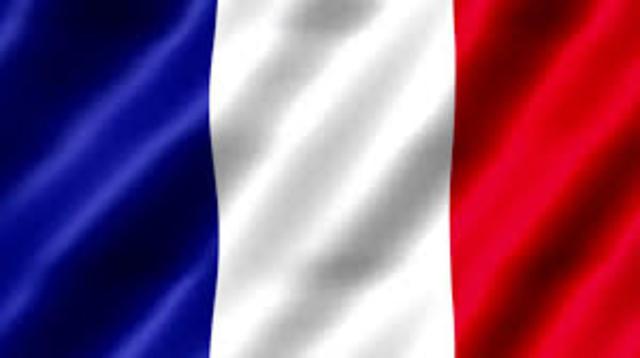 Frankrike får Trikoloren som nasjonalflagg