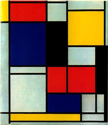 Composición II en rojo, amarillo y azul
