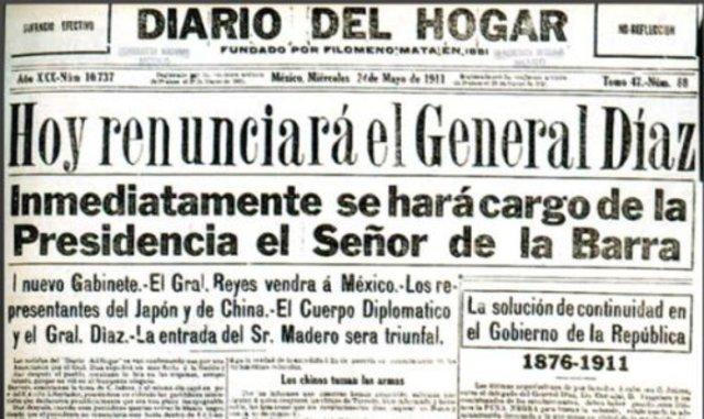 Renuncia de Porfirio Díaz
