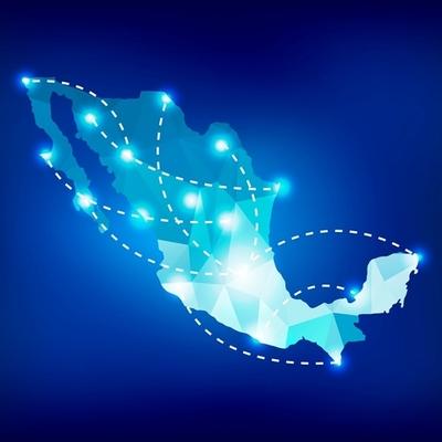 Desarrollo de las comunicaciones y la publicidad en México. timeline