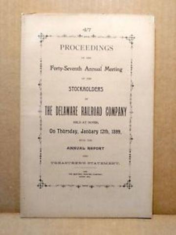 Delaware Promulga ley corportativa (Año 1899)