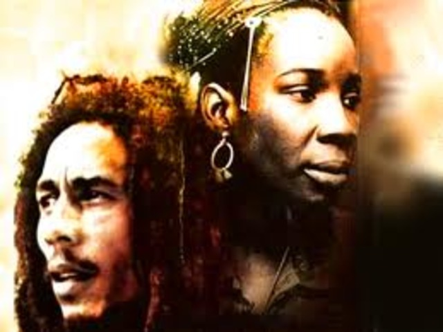 Bob Marley married Rita Anderson, This was a time of great political activity in the States.