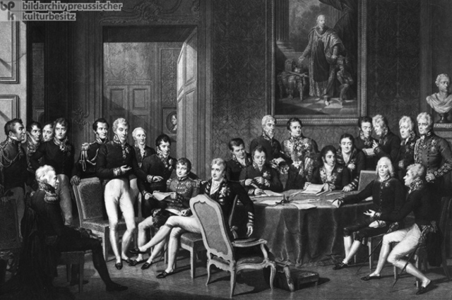 Allied Powers reconvened in Vienna as the Congress of Vienna
