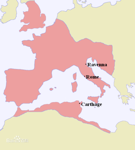 the Split of Rome Empire (Seventh place)