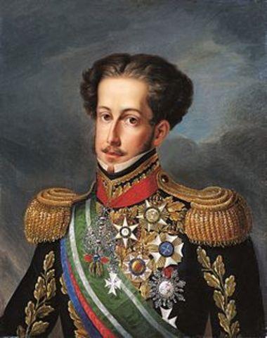 Muerte de Juan VI - Pedro IV, rey