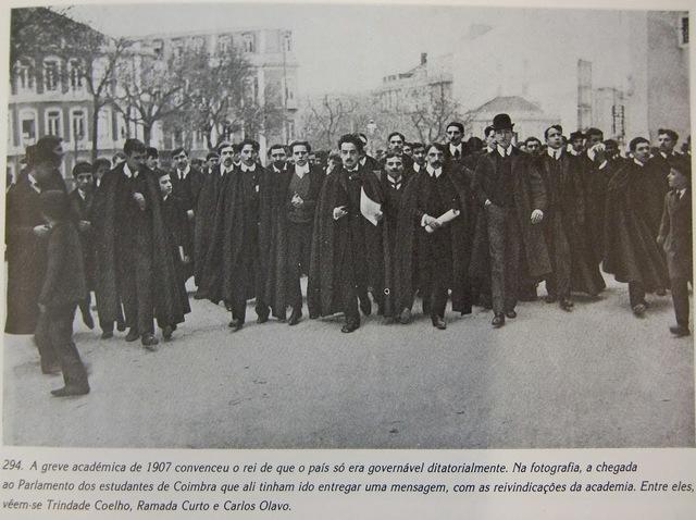 Huelga estudiantil en la Universidad de Coimbra