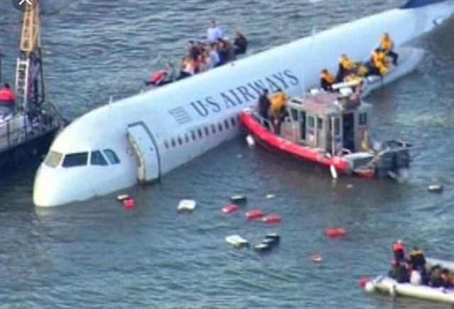 A US jet carrying 155 people crashes on the Hudson River in New York, but the pilot manages to land it on its belly. No one died.