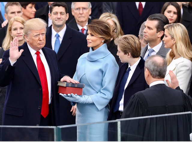 Donald Trump is sworn is as the 45th President of the United States