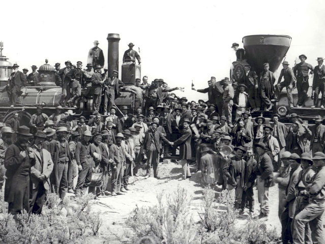 Completion of the transcontinental railroad