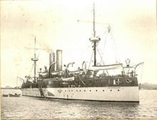 USS Maine sent to Cuba