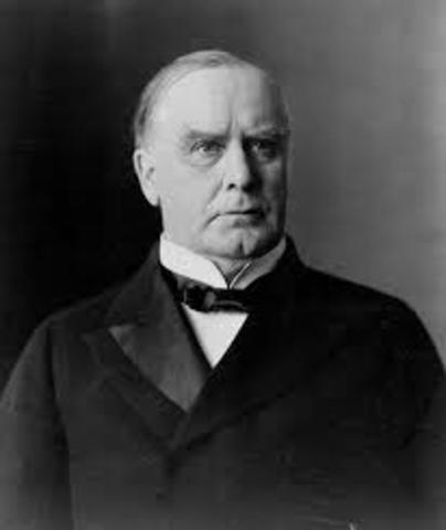 William McKinley approves war with Spain