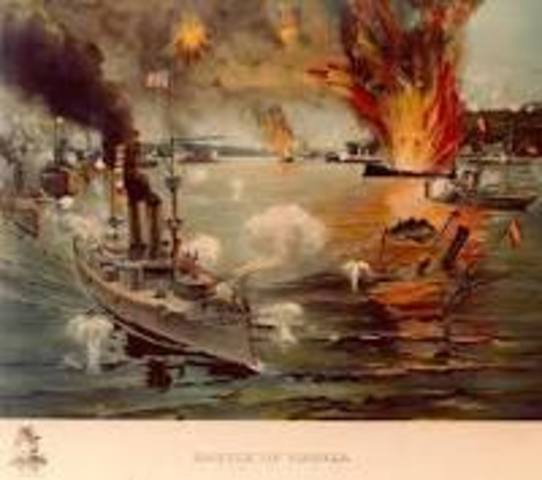 Battle of Manila Bay in the Philippines