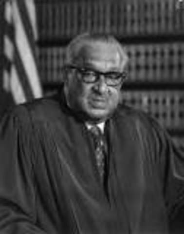 •	Thurgood Marshall Appointed to Supreme Court (1967)