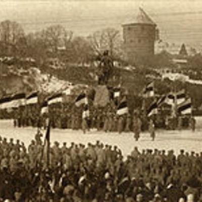 vabadussõda + eesti teises maailmasõjas (8-10) timeline