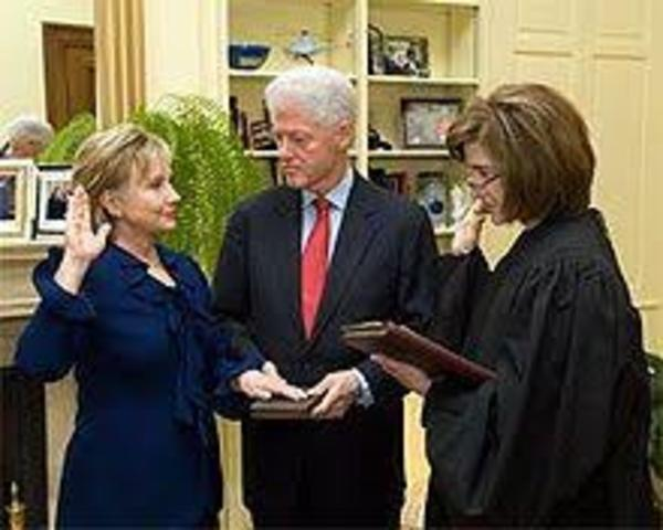 •Hilary Clinton Appointed U.S. Secretary of State