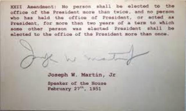 •22nd Amendment (1947)
