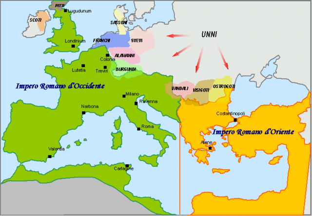 divisione impero romano