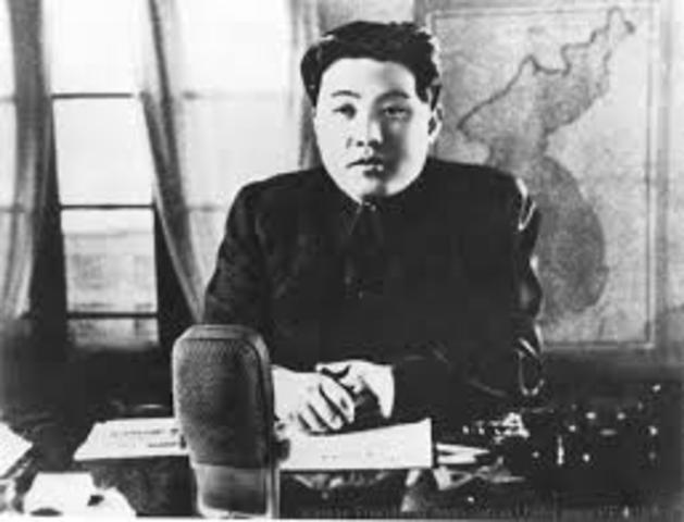 •	Kim Il-sung invades South Korea