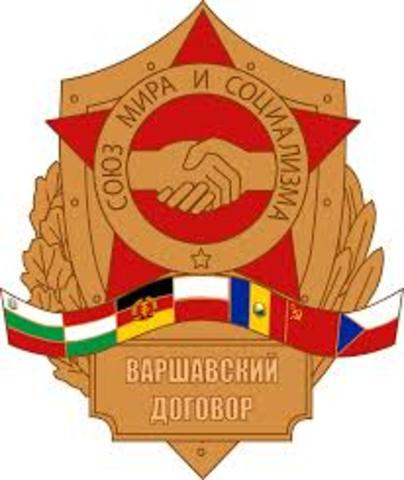 •	Warsaw Pact Formed