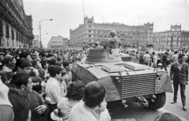 Ambito Social. Movimiento estudiantil de 1968 y matanza de estudiantes (Tlatelolco)