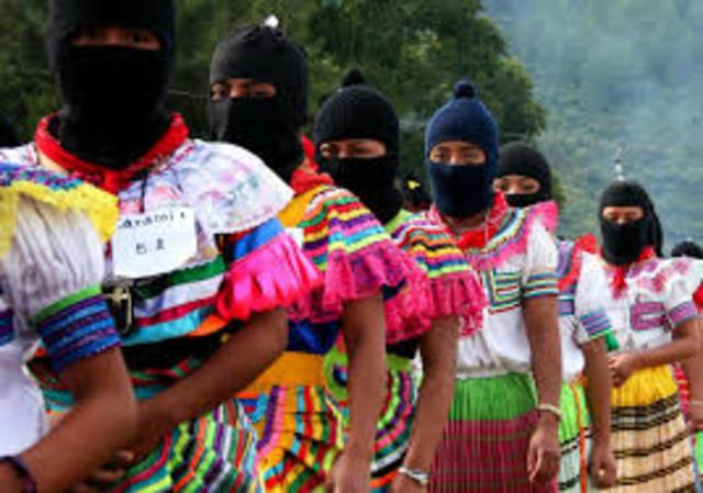 Ambito Social. Nace el EZLN en defensa de los pueblos indigenas de Chiapas.