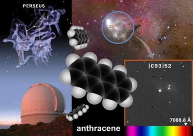 Descubrimiento del antraceno en el espacio interestelar