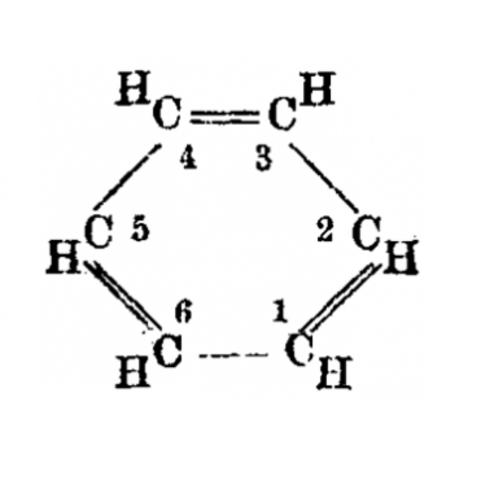 Desarrollo de la estructura química del benceno