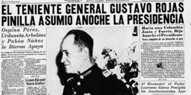 """Golpe de Estado """"Gustavo Rojas Pinilla"""""""