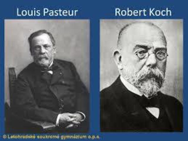 Louis Pasteur y Robert Koch.