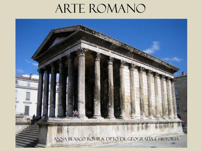 Roma. Uso de columnas y dintel.