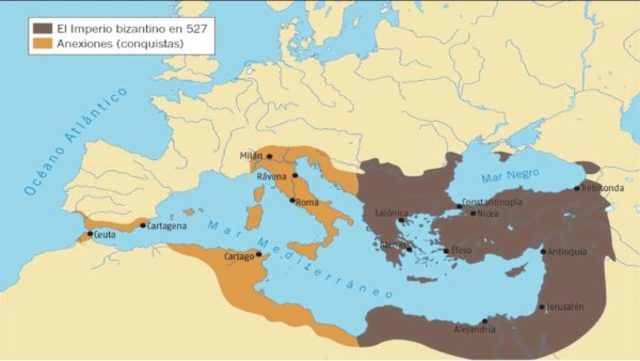 Comienzo Imperio Justiniano