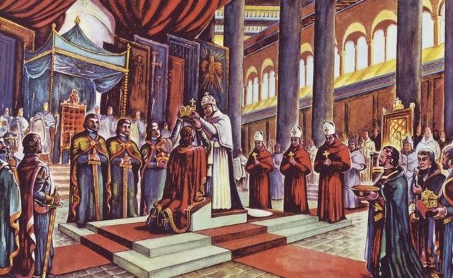 Coronación Carlomagno