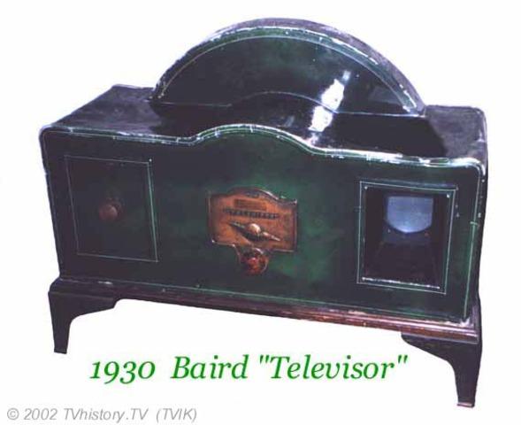 Baird's first Scanning TV