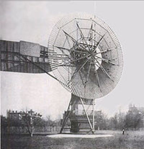 first wind turbine