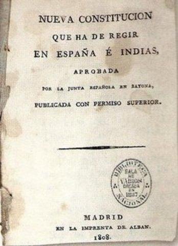 1808 CONSTITUCION DE BAYONA