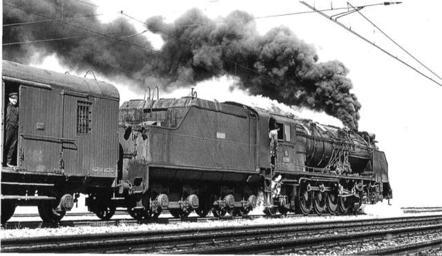 Locomotora de vapor.