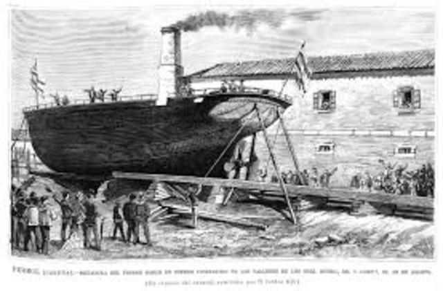 Barco de hierro.