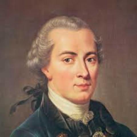 Immanuel Kant (1724 d.c)