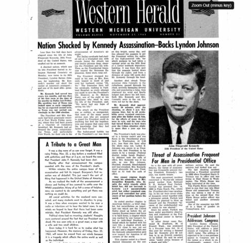 Nation Shocked by Kennedy Assassination - Backs Lyndon Johnson