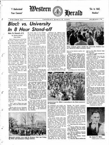 Black vs. University In 8 Hour Stand-Off