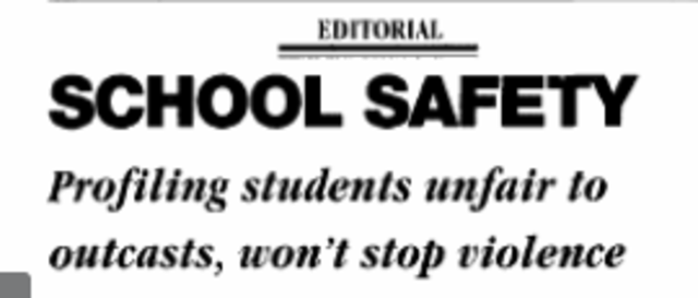 Editorial Regarding Columbine Bears Resemblance to Feelings on Parkland Shooting
