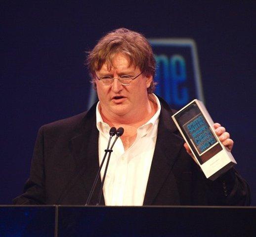 Gabe Newell received the BAFTA Fellowship award