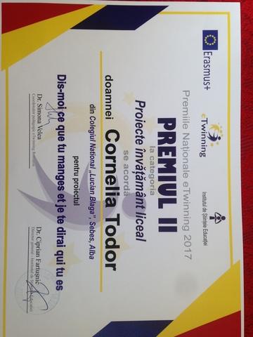 Premiile Nationale eTwinning 2017