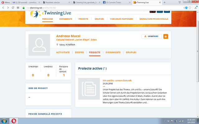 Prof. Mucsi Andreea-primul proiect eTwinning in limba germana