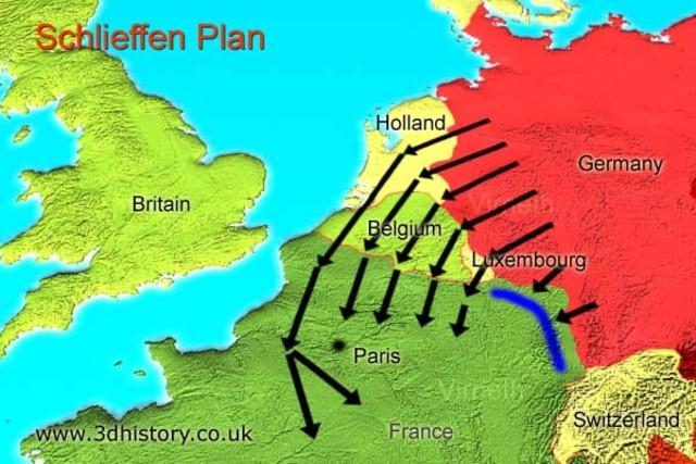 Alemania da inicio a plan Schieffen