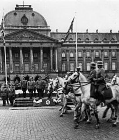 Alemania conquista Belgica